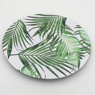 New Design Cheap Round Plastic Leaf Design Colorful Flat Plates