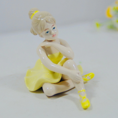 Ceramic Figurine Boy Girl for Countryside Style