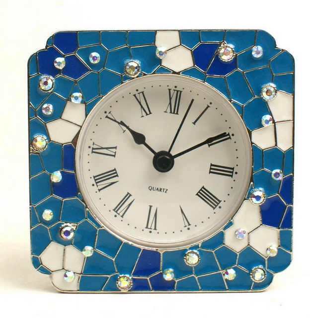 ZINC ALLOY PEWTER Digital Desktop Clock