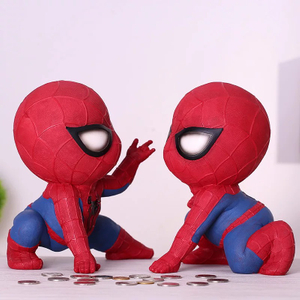 Polyresin Funny Spiderman Money Box/cheap Piggy Bank for Sale