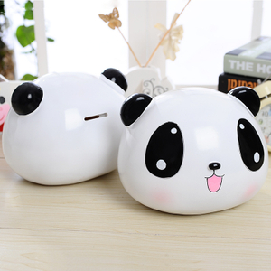 Cute Polyresin Cat Coin Bank