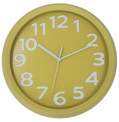 Plain Roud High Quality Low Price Children Wall Clock Plastic