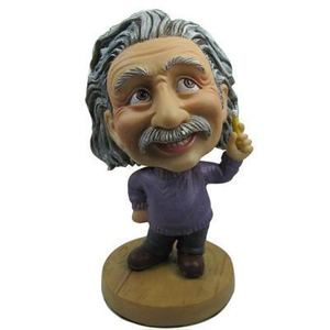 Cute Einstein Cartoon Bobblehead Doll Toy Car Accessories