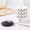 Promotional Custom Fashion Design Rhombus 600ml Ceramic Mug With C-Handle