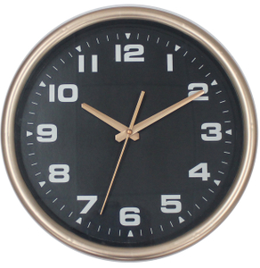 Wholesales 12inch Fancy Electroplating Glod Wall Clock