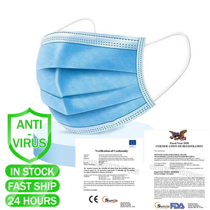 Disposable Surgical Earloop Virus Pollution Protective Face Masks For Sale