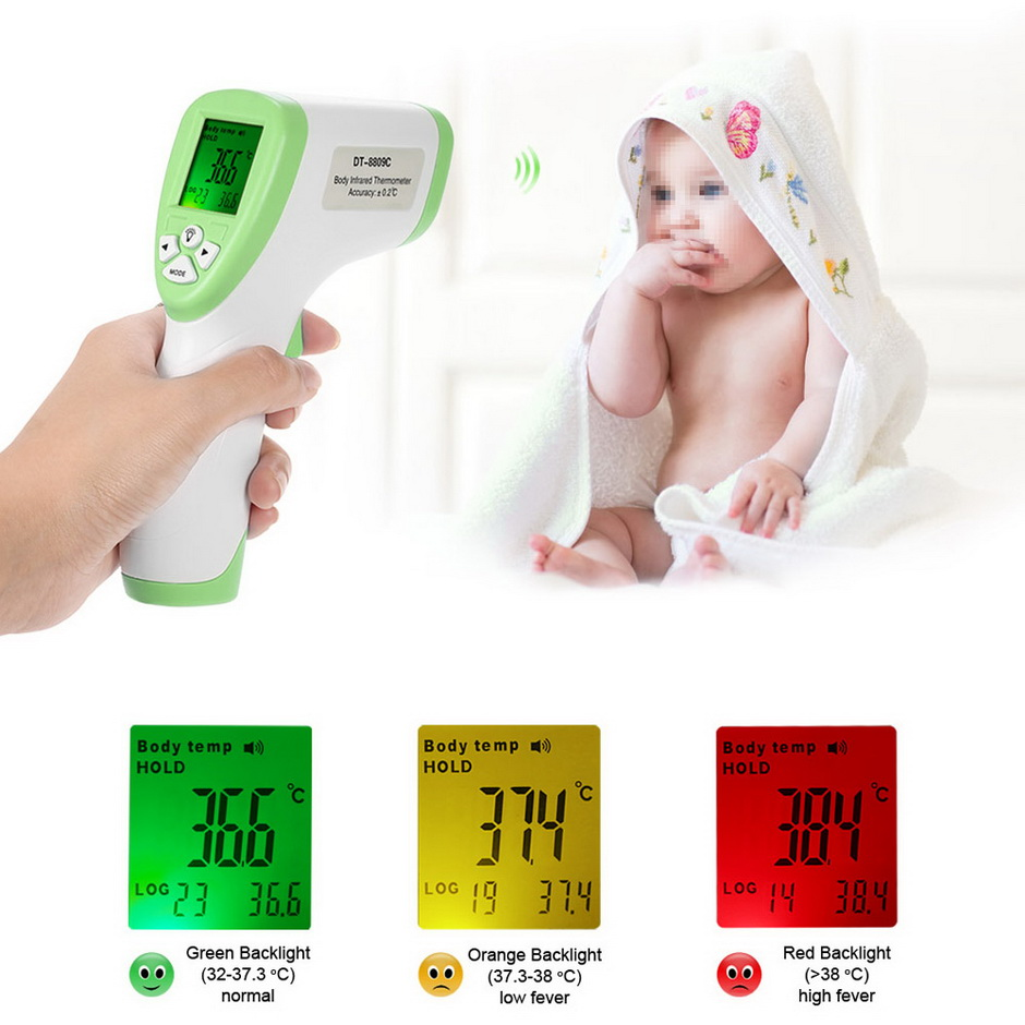 In Stock CE Approved Digital Non-contact Infrared Clinical Thermometer