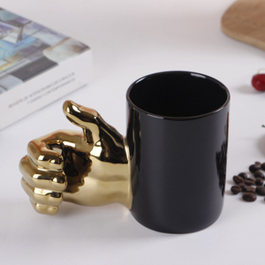 New Product 3D Unique HAND Ceramic Music Mug with Funny Handle