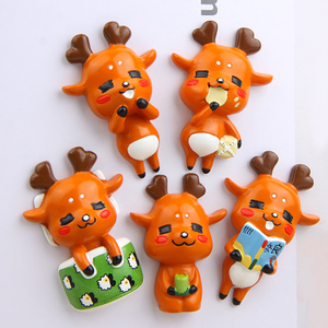 Factory wholesale polyresin mini cute fridge magnet