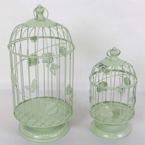 Cheap antique style wedding decor metal wire bird cage