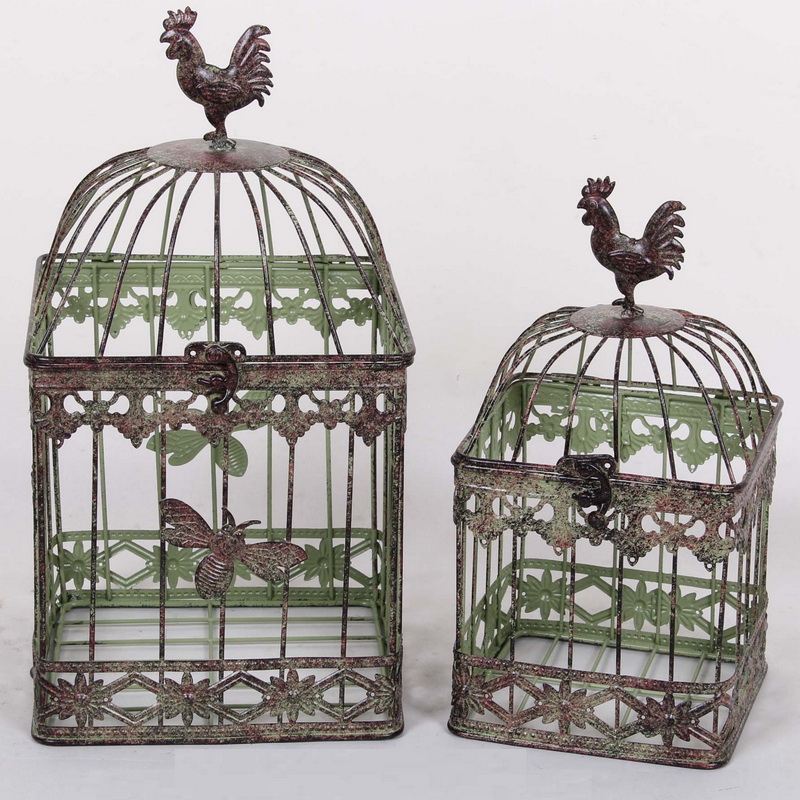 Low Price Antique Brown Metal Bird Cage