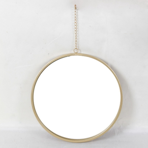 Nordic Square Gold Bathroom Mirror Living Room Porch Wall Hanging Decorative Mirror