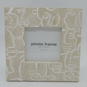 Resin Flocked Baroque Resin Photo Frame