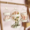 Modern Iron Wrought Metal Birdcage White Small Middle Sets