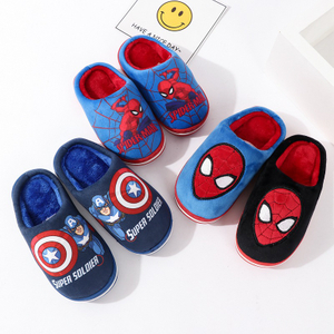 New Women Cotton Slippers Warm Plush Indoor Lady Shoes Soft Bottom Home Floor Slippers