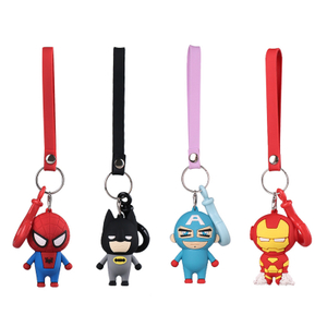 Promotion Gift Wholesale Avengers Keychain Soft Pvc Keychain Cartoon Key Chain