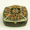 Antique zinc alloy marble inner lining rosary custom jewelry box