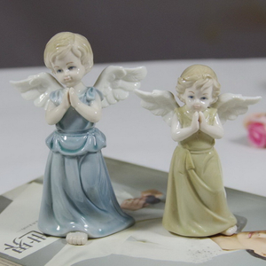 Europe Style Porcelain Craft Antique White Ceramic Angel
