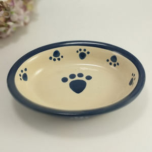 New Arrive Ceramic Pet Cat Food Water Feeding Portable Dog Bowl