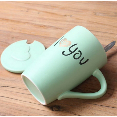 Mr. And Mrs. Couple Ceramic Coffee Mug Green Lovers Coffee Mug