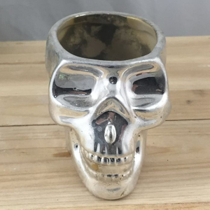 Direct Factory Ceramic Halloween Skull Bobble Head