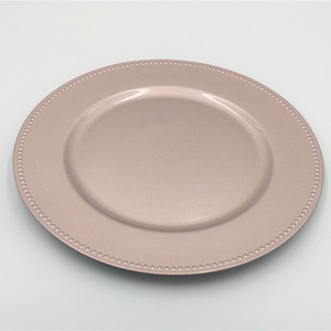 Wholesale Rose Gold Disposable Plastic Plates