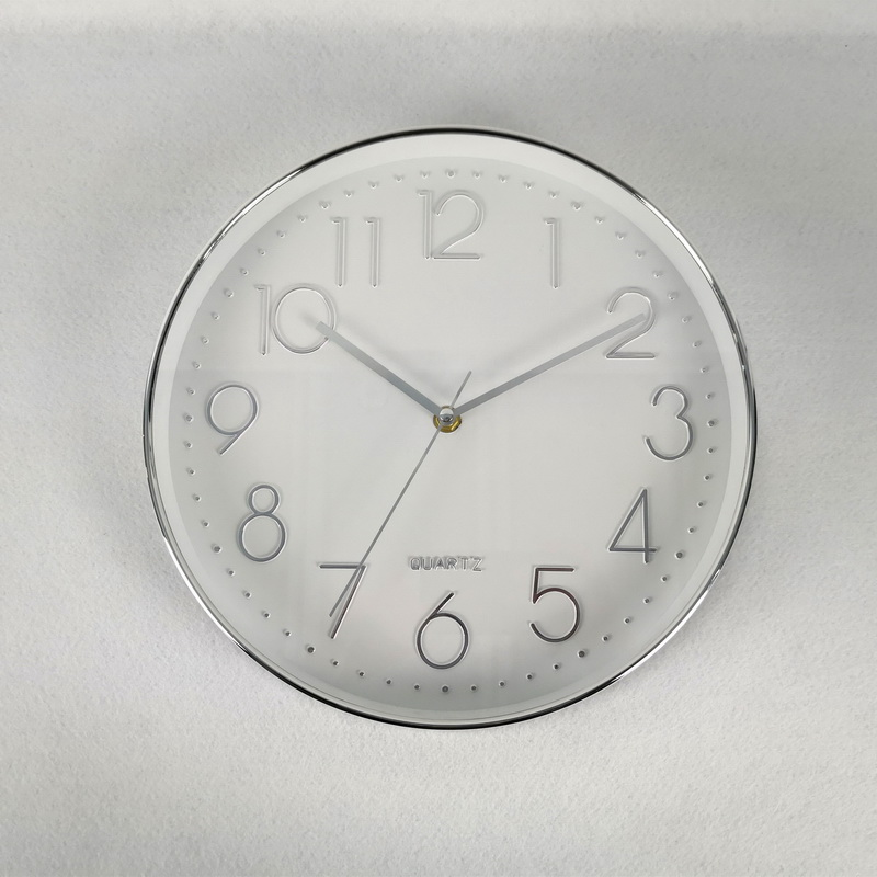 Home Decoration Classic Electraplating Plastic Quart Night Light Wall Clock