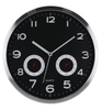 Simple Aluminum Frame Modern Round Wall Clock