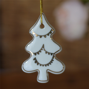 Best Sales Blank Sublimation Christmas Ornaments Ceramic Hanging Pendant