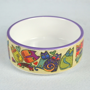Personalize Cat Food Bowl, Cat Shape Pet Bowl Ceramic