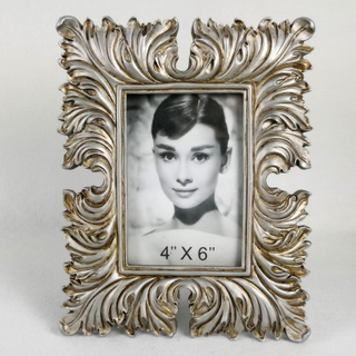 Good Quality European Retro Style Resin Picture Photo Frame Silver