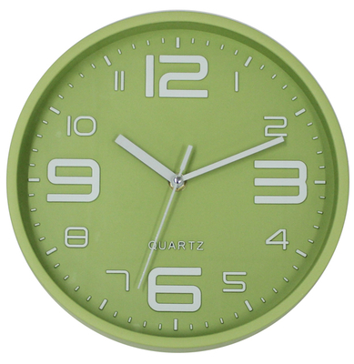 Cheap Fancy 3D Numbers Green Wall Clock