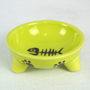 Personalized Printing Multiple Sizes Round Shape Lovely Ceramic Pet Dog Bowl