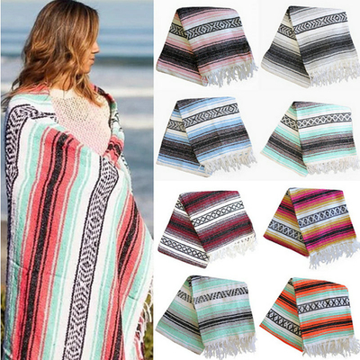 Newest Mexican Blanket Geometric Fringe Woven Yoga Mat Blanket Fashion Blanket Hand Woven Mat Blanket