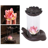Incense Burner Backflow Incense with Windproof Acrylic Hood Set