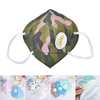 Anti Pollution Vertical Folding Mask Colored FFP2 Dust Mask with Valve