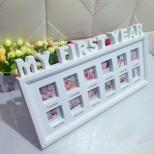 Cute Baby Photo frame DIY handprint or footprint 12 Months