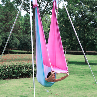 New Design Yoga Hammock Fabric 5M Aerial Flying Swing for Outdoor Exercise Bodybuilding