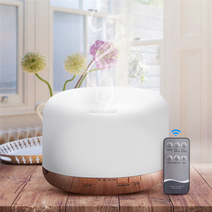 Air Humidifier Essential Oil Diffuser 300ML 500ML Ultrasonic Cool Mist Maker Fogger Humidifier LED Lamp Aroma Diffuser Electric