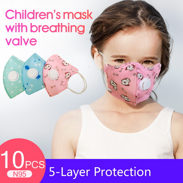 Winter Cotton Child Mouth Masks PM 2.5 Dust Breathable Cartoon Mask