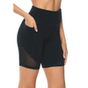 Women's High Waist Fitness Sports Biker Shorts Yo-ga Short Abdomen Control Training Running Yo-ga Shorts With Pocket