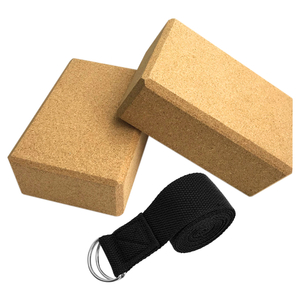 3PCS Yoga Block Cork Sport Home Gym Exercise Wood Yoga Brick Soft High Density Block for Indoor Sport Exercise Workout Fitness