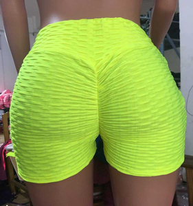 Women's jacquard Yoga exercise fitness shorts lift hip tight