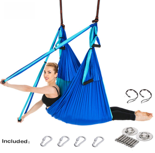 Yoga Hammock Gym Strength Inversion Anti-Gravity Aerial Traction Swing Yoga Belt Set