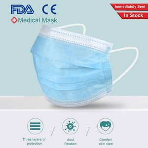 CE Premium 50pcs Per Box Packaging 3ply Disposable Earloop Medical Surgical Face Mask