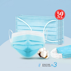 Disposable Face Mask with Latex Free Round Earloop For Medical Or Surgical Use