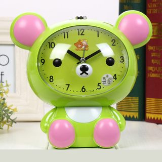 Cute Colourful CE ABS Blue 12cm Slient Twin Bell Alarm Clock for Bedroom Kids