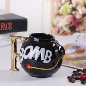Custom Promotional Ceramic Bomb Shaped Decal Tea Mug Cup Gifts Mug Coffee Mug