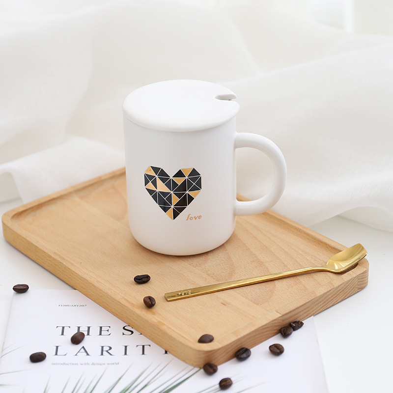 Creative Cute Ceramic Cups Coffee Novelty Milk Tea Mugs with Spoon