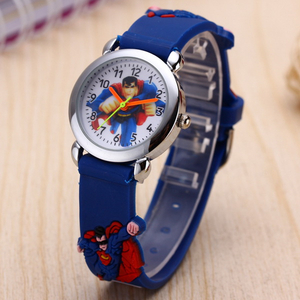 Children's Watches 3D Superman Cartoon Watch Casual Boys Sports Quartz Watches